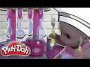 Куклы Пупсики Baby Doll Саша Готовит Обед с Мамой из пластилина Play Doh плей до Лепят Со...