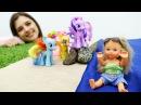КАНИКУЛЫ Барби Штеффи едет в детский лагерь Литл Пони! Видео для девочек на Мам...