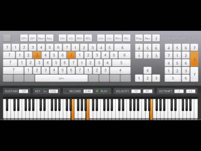 игра на виртуальном пианино