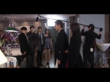 Ли Мин Хо и Пак Шин Хе на съемках дорамы Наследники