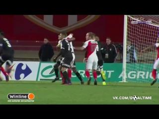 Монако - Аяччо 2:1. Обзор матча. Кубок Франции 2016/17. 1/32 финала.