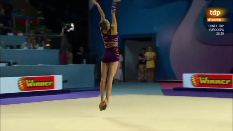 Ganna Rizatdinova Campeonato Europa GR Holon 2016 Pelota