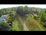 """Деревня """"Красный Луч"""" с воздуха. 1080FHD (ж/д станция - платформа 168 км, Владимирская область.)"""