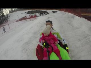 Детский сноутюбинг в Буковеле