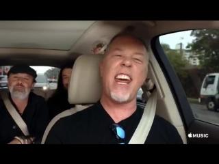 Metallica поют Diamonds на Carpool Karaoke (отрывок)