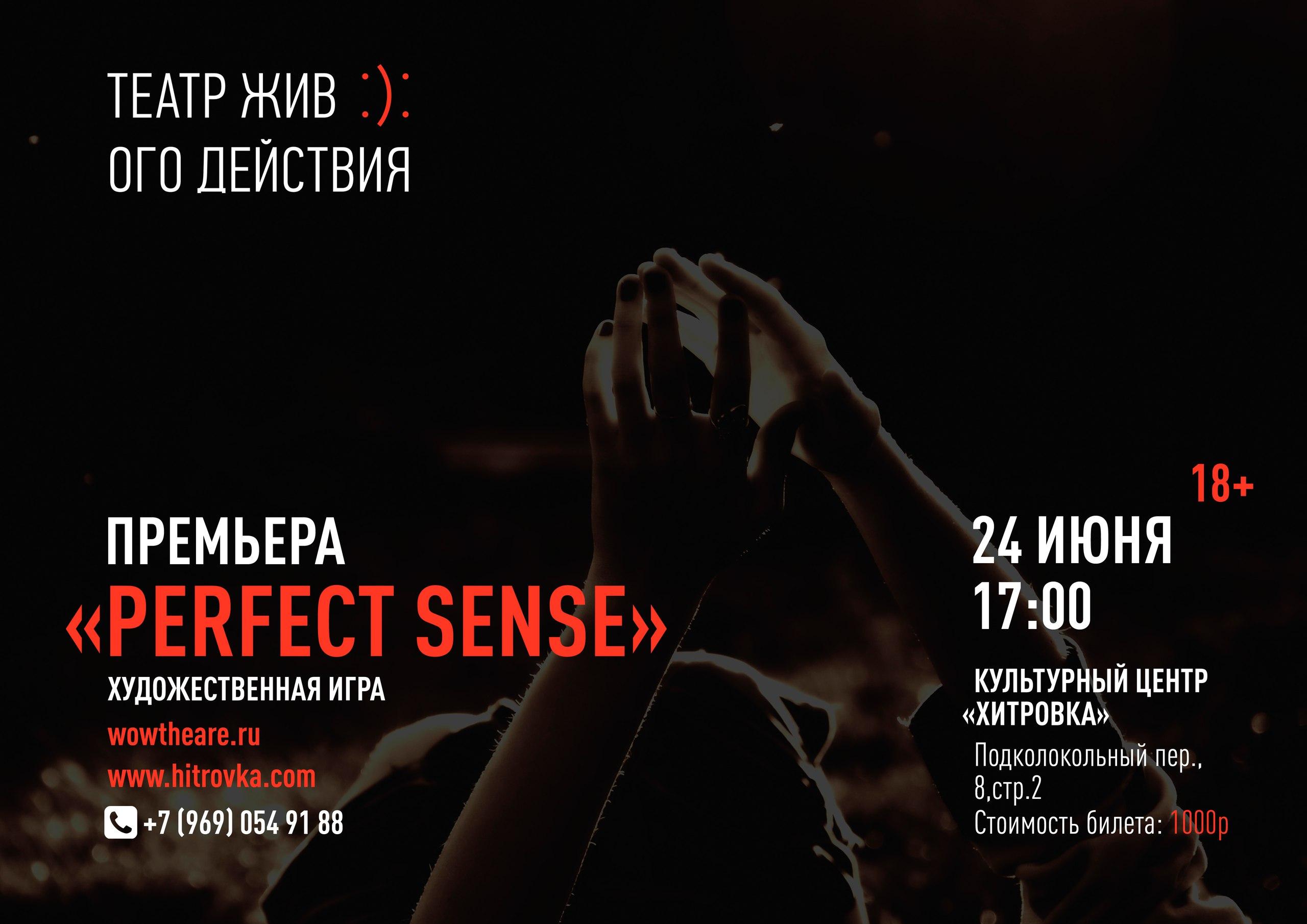 24 июня — премьера художественной игры «Perfect sense»