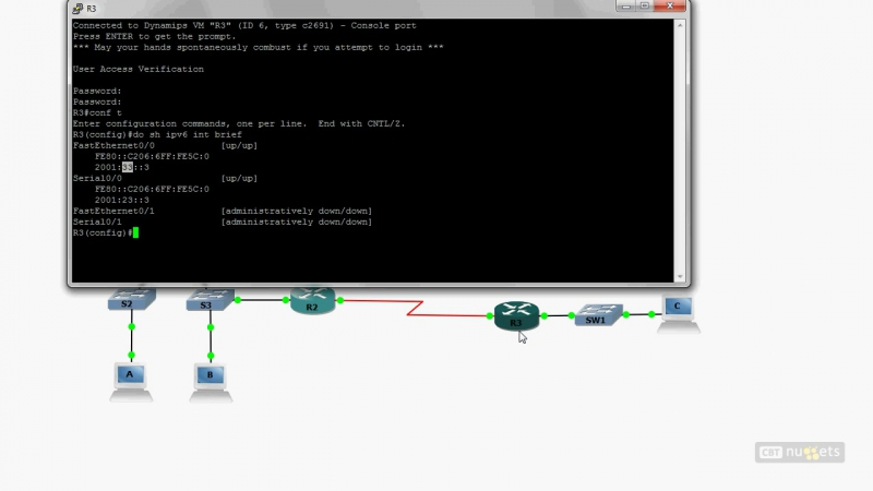 27. ICND2 IPv6 Routing Protocol Configuration