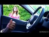 BBC dick flash girl watching black guy masturbating in car