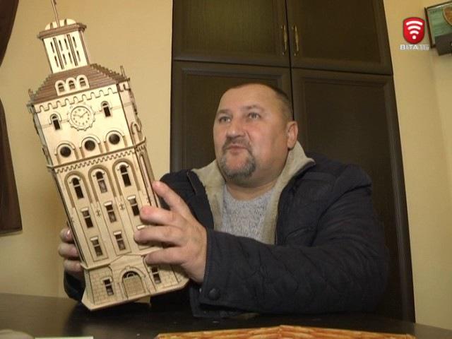 Телеканал ВІТА новини 2017-02-17 Вінницька вежа з пазлів - креативний сувенір для гос...