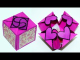 DIY paper crafts idea - Gift box sealed with hearts - a smart way to present your gift Julia DIY