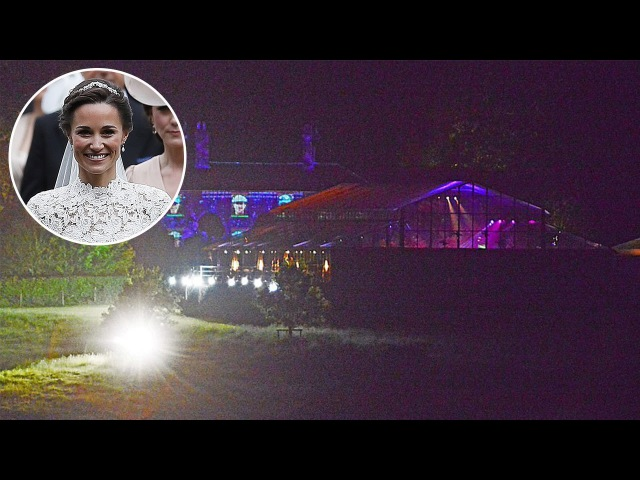 Colourful Lights as VIP Guests and Royals Partied at Pippa Middleton's Reception