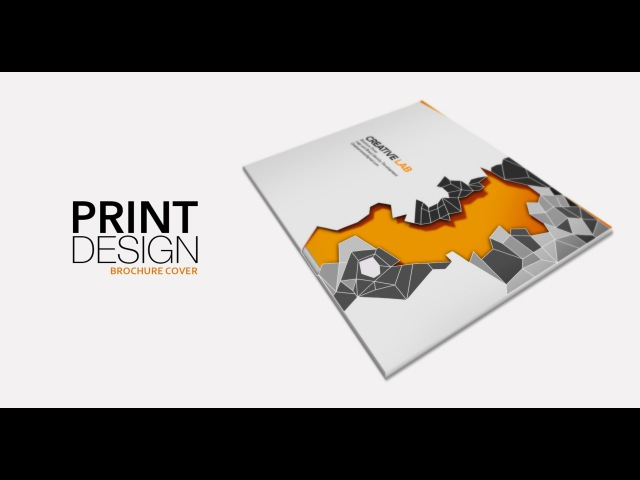 Print Design - Brochure Cover (part-1) - Adobe Illustrator cc