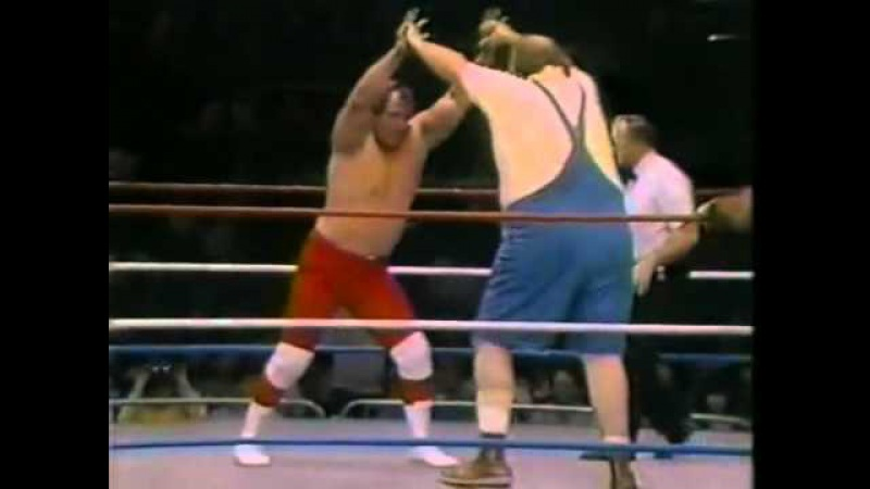 George Steele Uncle Elmer in action Championship Wrestling March 15th, 1986