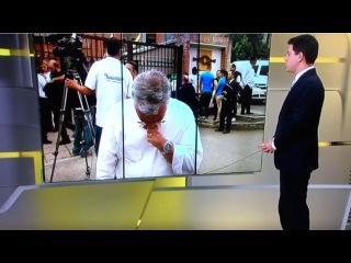 Repórter Ari Peixoto chora perda de amigo em tragédia na Colômbia
