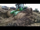 Трактор застрял в грязи Уникальная подборка Tractor stuck in mud compilation 2016, NEW