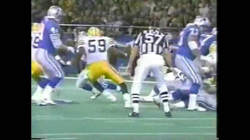 1993 NFC Wild Card Game Green Bay Packers vs Detroit Lions 1st Half