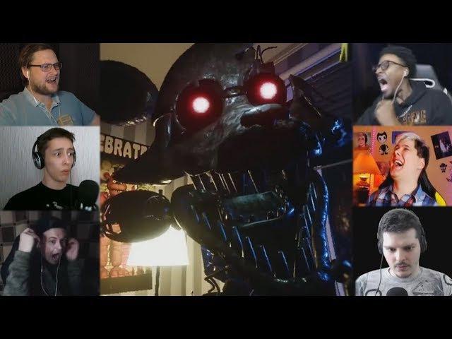 Реакции Летсплейщиков на Смерть от Фокси из The Joy of Creation: Story Mode