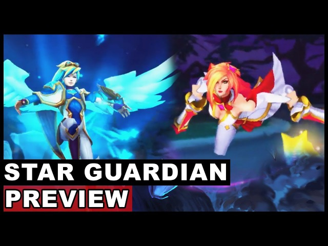 All New Star Guardian Skins Preview Ahri Ezreal Miss Fortune Soraka Syndra (League of Legends)