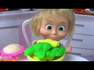 НА ДИЕТЕ #Маша и Медведь Мама Барби Мультик Кукла Барби Новая серия Кушают Пицца ...