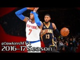 Carmelo Anthony vs Paul George Full Duel 2017.03.14 - 22 Pts Each, Melo On-FiRE in 2nd Half!