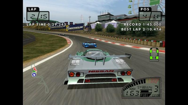 Игра: «Lemans 24 Hours». Платформа: Sega Dreamcast. Этап: PROTOTYPE ENDURO. 06