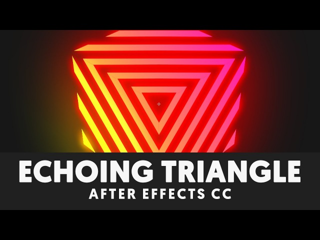 Retro Echoing Triangle Tutorial (Animated Logo in After Effects) - T041