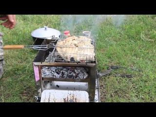 Как пожарить мясо и не пересушить его на мангале GrossMaster. Процесс регулировки температуры