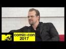 David Harbour on 'Stranger Things' Season 2 Pressures | Comic-Con 2017 | MTV