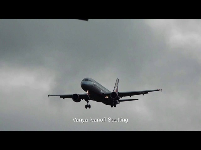 Aeroflot Airbus A320-214 VP-BME landing in Moscow SVO