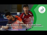 2016 Croatia Junior &amp Cadet Open Highlights Feng Yi-HsinLiu V. vs Csaba AndrasOliver Both (12)
