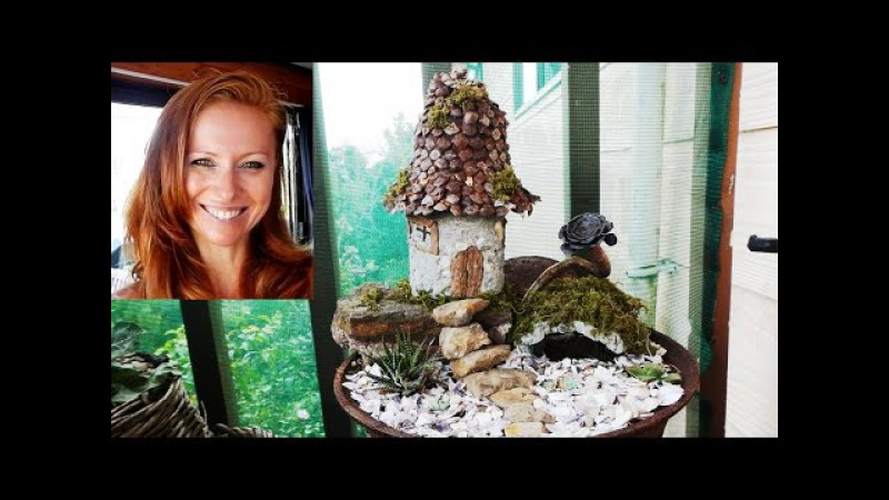 The use of plastic bottles for production of fairy houses