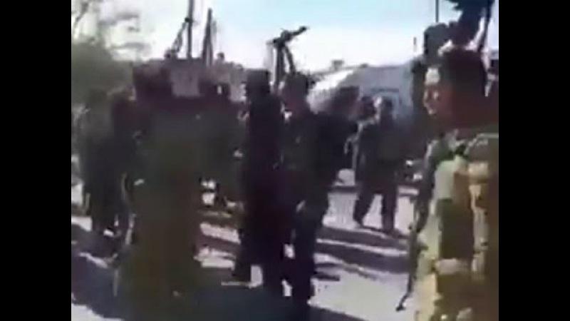 Боевики изгоняют спецназ США из сирийского Эль-Рая: видео