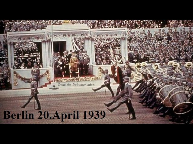 Original Berlin 20.April 1939 50th B-Day of AH Best Footage