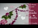 Passo a Passo de Crochê Mega Barrado Flor Aninha por JNY Crochê