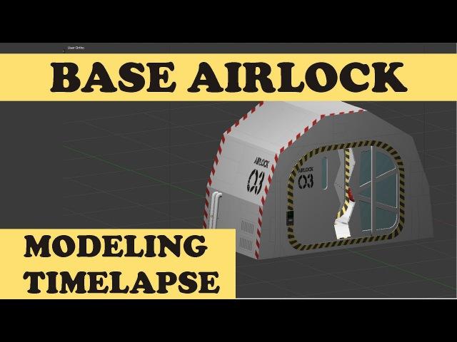 Planetary Domes Base Airlock - Blender Modeling Timelapse