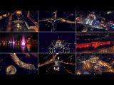 Ночной Киев. Полет над городом.