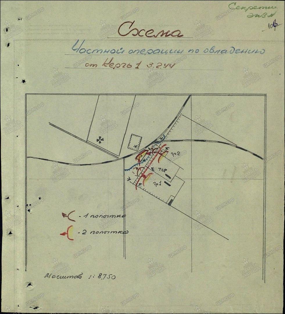 План - схема операции по овладению жд станции Керчь -1