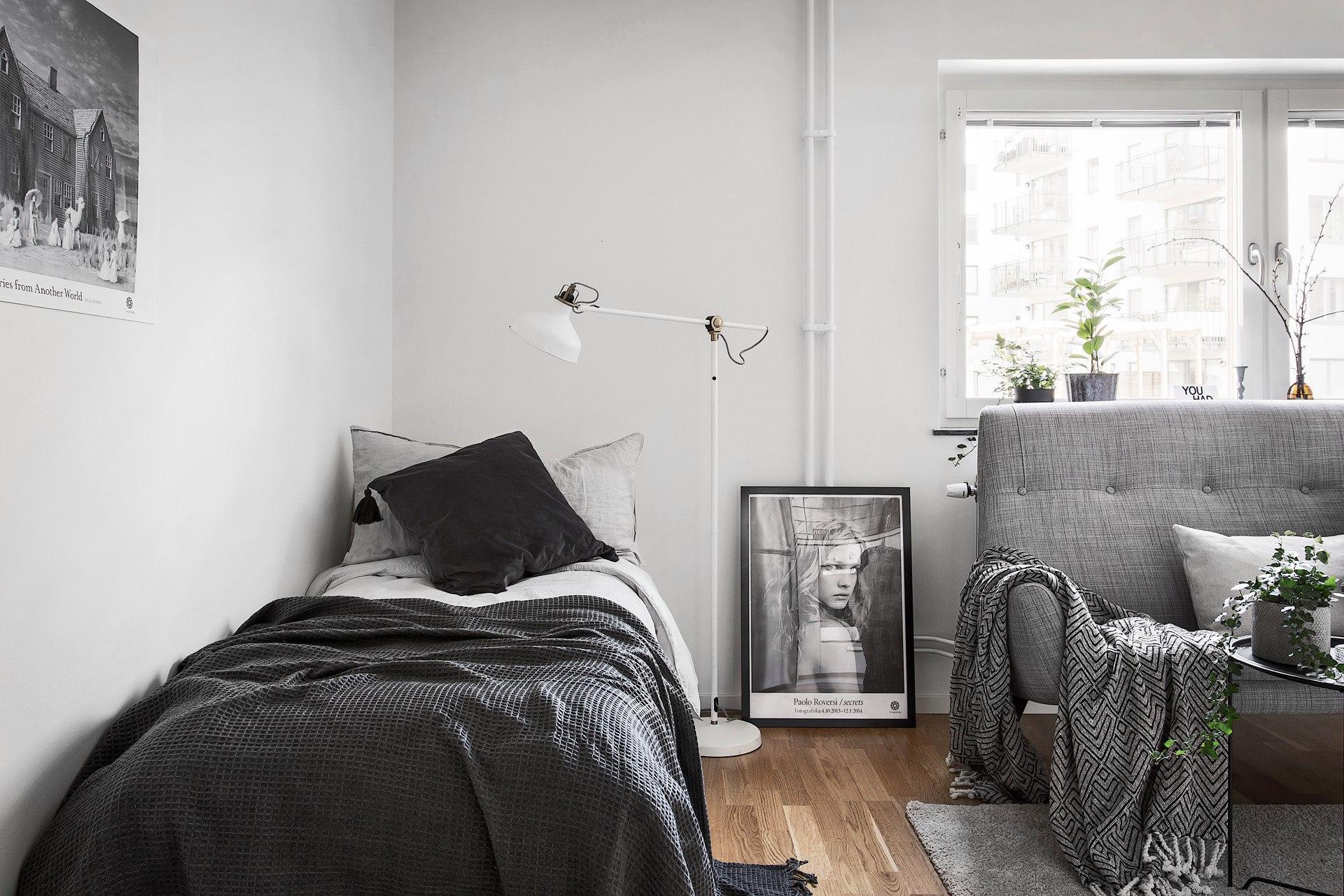 Скандинавский интерьер: квартира-студия 29 м.