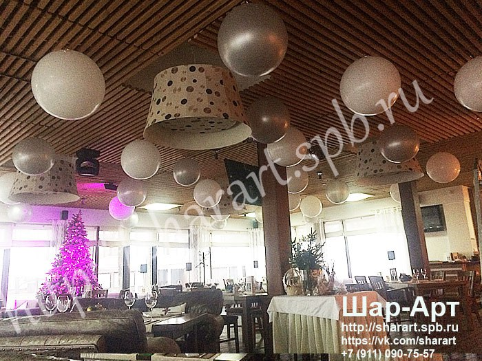 большие шары под потолок