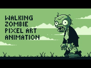 Walking Zombie Pixel Art Animation ft. Plants vs Zombies by PXLFLX