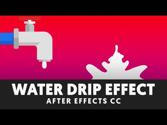 Liquid Drip Splash After Effects Tutorial No Third Party Plugin T044