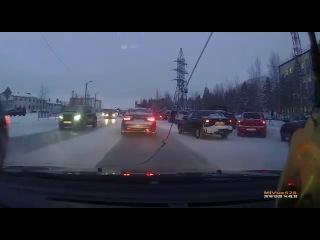 Случай в г.Ноябрьск Наезд на пешехода.