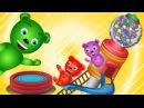 Gummy Bear Playing on Giant squishy Gumball toys finger family song for children Gummybear kids