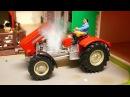 Мультики про машинки Трактор едет в Городе Экскаватор Кран 1 час Сборник Видео д ...