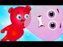 Mega Gummy bear blowing giant bubble gum finger family rhymes for kids Gummybear ice cream fun