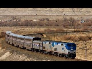 DJI Phantom 4 преследует поезд AMTRAK в Калифорнии (США)