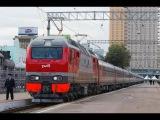 Вид из окна пассажира поезд Мариинск - Красноярск Россия