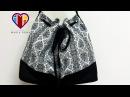 Bolsa em vídeo de tecido Alexandra. DIY. Fabric bag tutorial. Make a fabric bag. Fabric bags