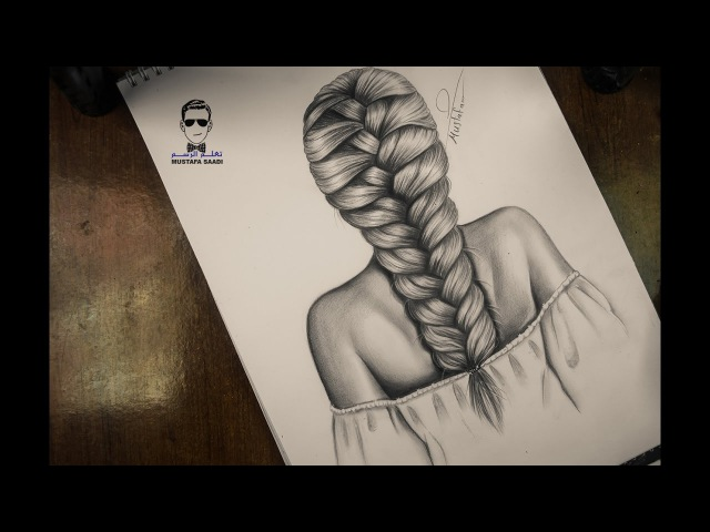 اسهل طريقة لرسم الشعر تعلم رسم تسريحة الظف1