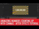 Animated number count with commas in After Effects